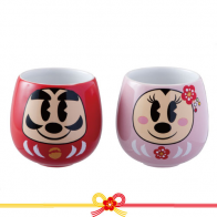 ダルマミッキー&ミニー_ゆのみセット