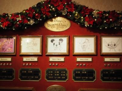 ディズニードローイングクラス サンタクロースミッキー プログラム