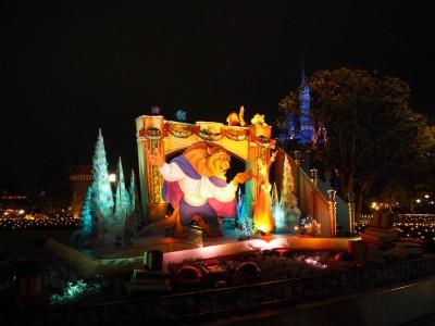 東京ディズニーランド クリスマス フォトロケーション 美女と野獣