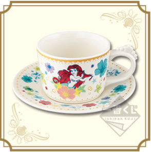 一番くじ_ディズニープリンセス_Ariel'sCloset_B賞_アリエルのカップ&ソーサー