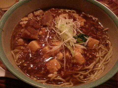 ボイジャーセット_チャイナボイジャー_豚角煮とマーボー豆腐のあんかけ麺