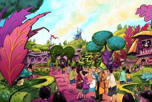 東京ディズニーランド ファンタジーランド_拡張案_『ふしぎの国のアリス』をテーマとしたエリア
