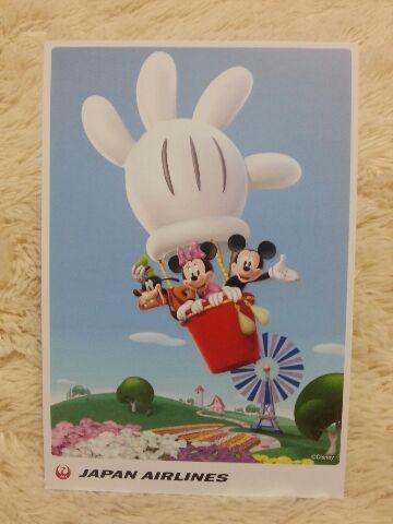 ディズニー気球_JALポストカード