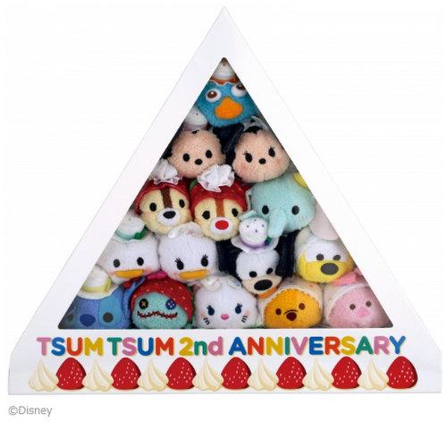 ツムツム2周年_アニバーサリーケーキBOX_TSUMTSUM
