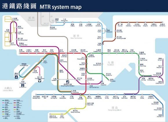 香港MTR 路線図