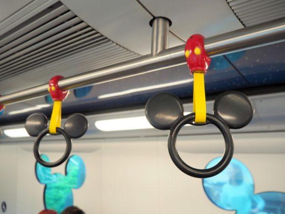 香港ディズニーランド ディズニーリゾートライン 吊革