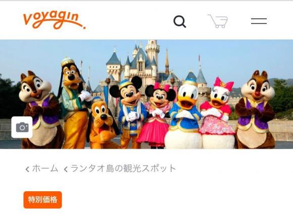 Voyagin 香港ディズニーランド