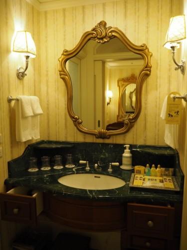 東京ディズニーランドホテル タレットルーム 洗面台