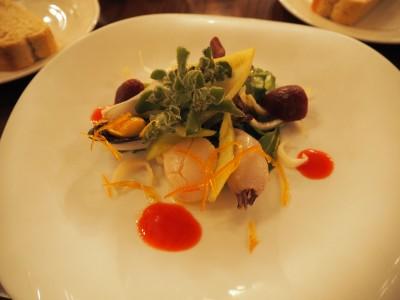 リストランテ・ディ・カナレット シーフードマリネ、サラダ仕立て