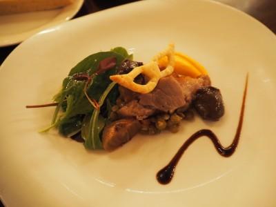リストランテ・ディ・カナレット 鴨肉と砂肝のコンフィ、バルサミコソース