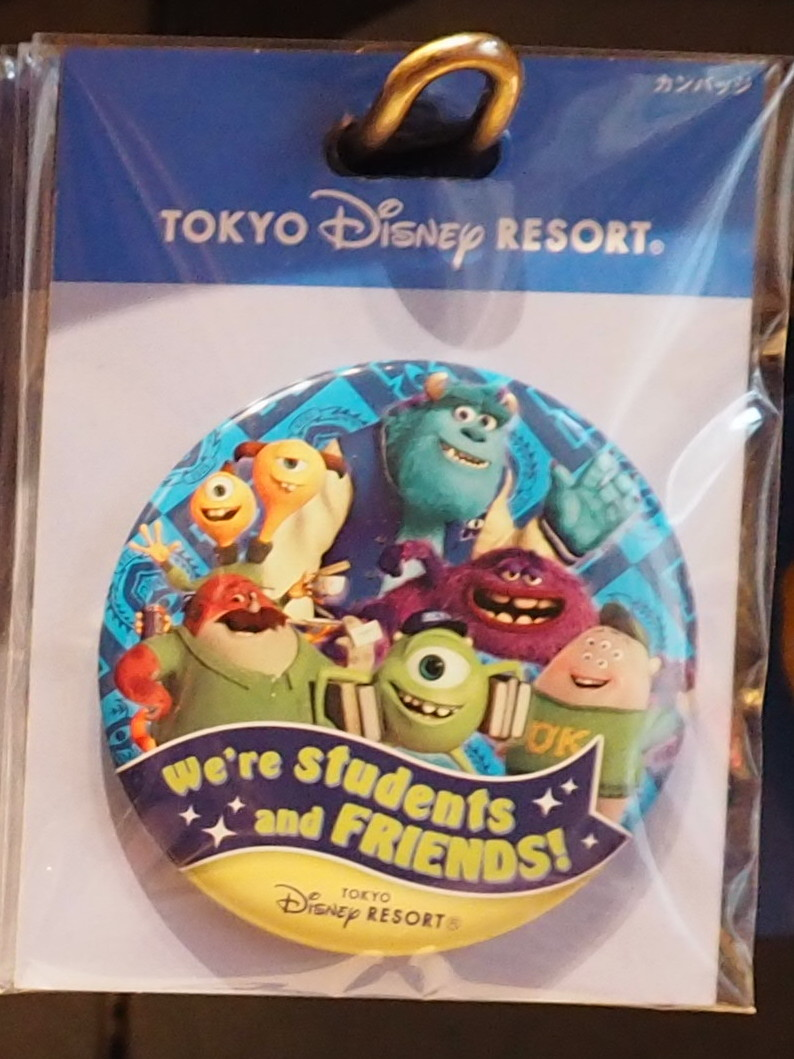 We are students and FRIENDS! 友達缶バッジ 東京ディズニーリゾート