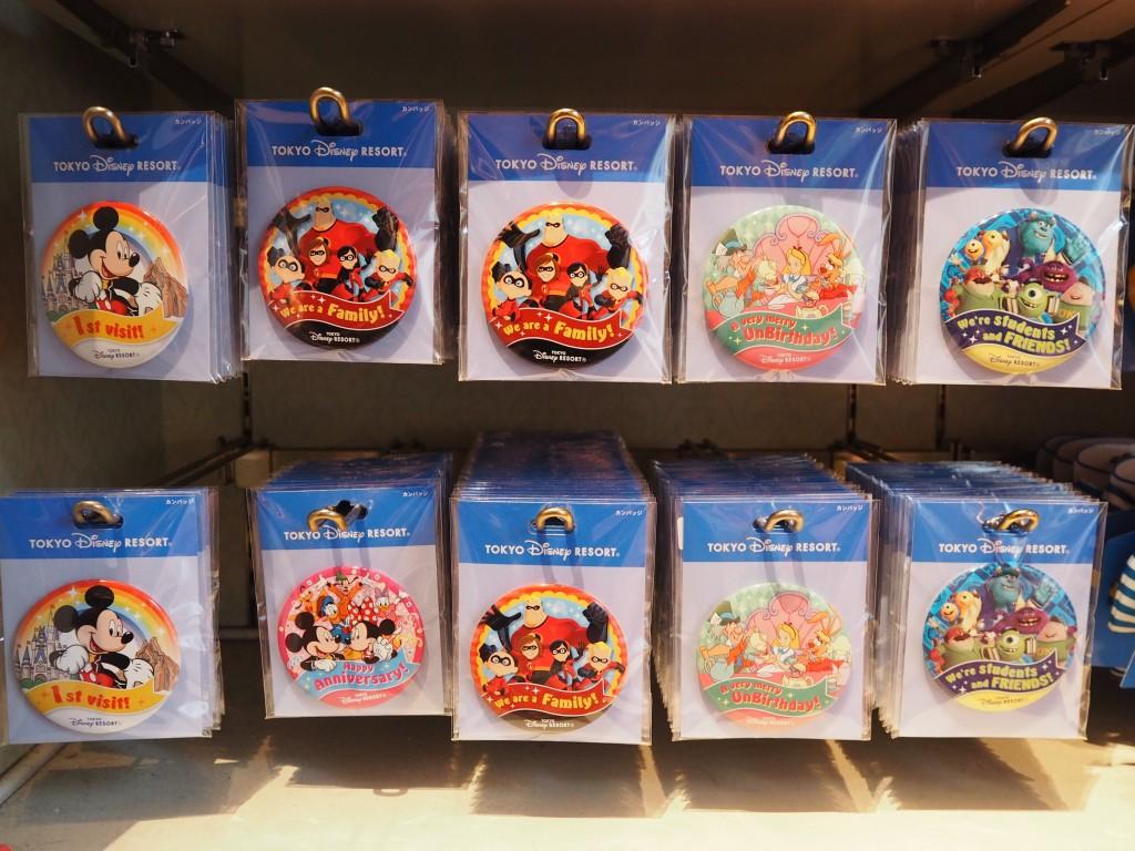 東京ディズニーリゾート 記念缶バッジ
