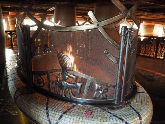 アニマルキングダムロッジ 暖炉
