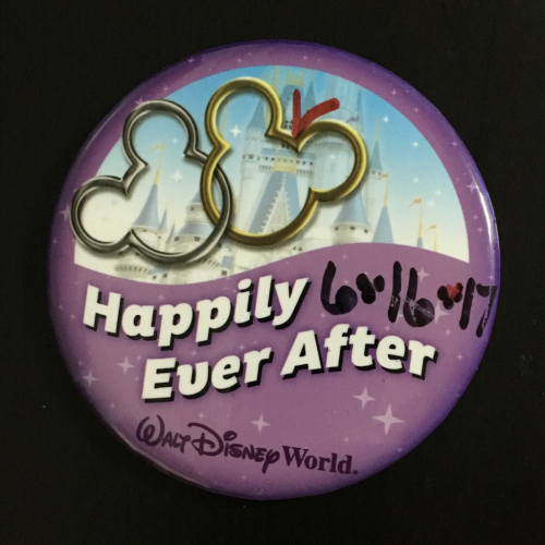 WDW セレブレーションボタン Happily Ever After