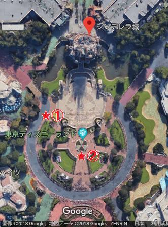 Celebrate! Tokyo Disneyland 観賞場所