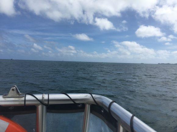 サンドバーツアー 船の上