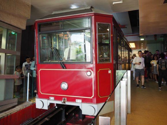 香港 ピークトラム乗車