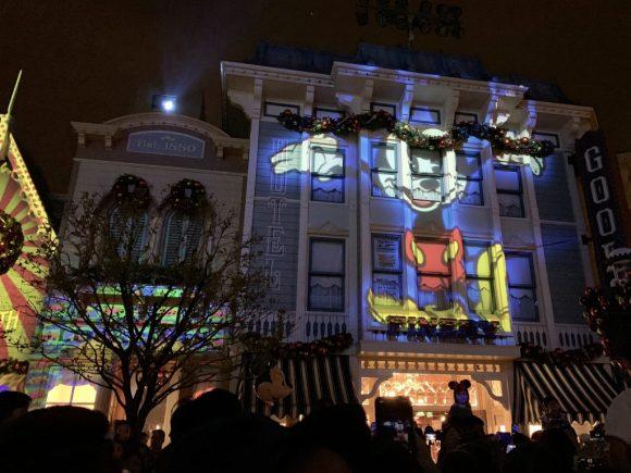 香港 We Love Mickey! プロジェクションマッピング ミッキーアップ