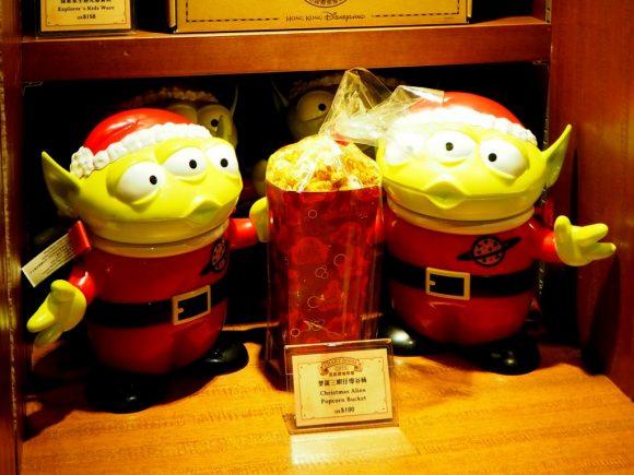 香港ディズニーランド クリスマス リトルグリーンメンポップコーンバケット
