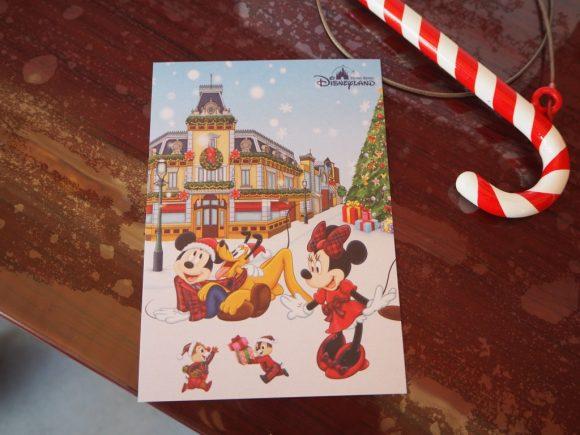 香港ディズニーランド クリスマスポストカード
