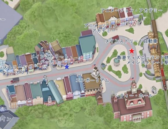 香港ディズニーランド マップ フライトオブファンタジーパレード
