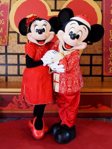 カリフォルニアDLR 旧正月 ミッキー&ミニー