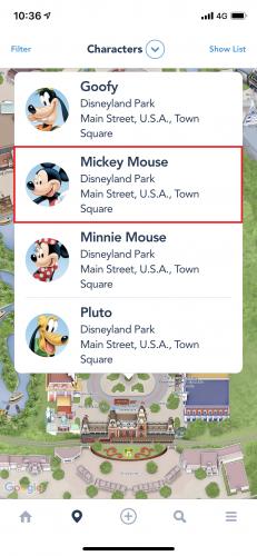カリフォルニア・ディズニーアプリ キャラクター一覧