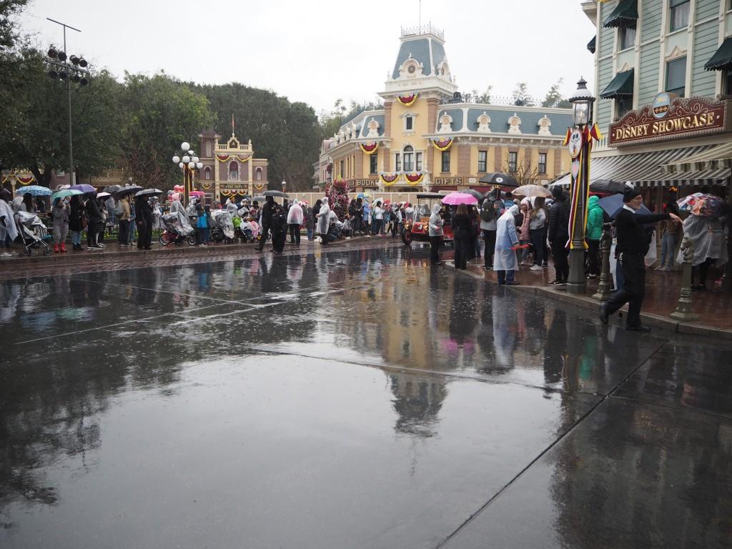 カリフォルニアDLR 雨