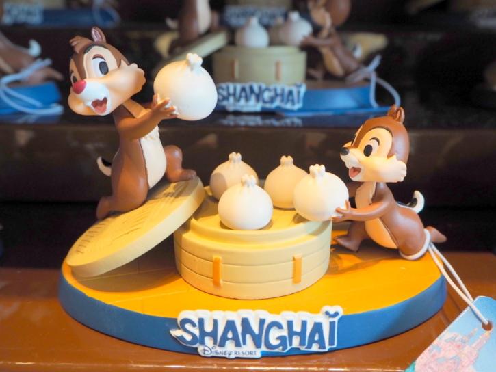 上海ディズニー チップとデール 肉まんフィギュア