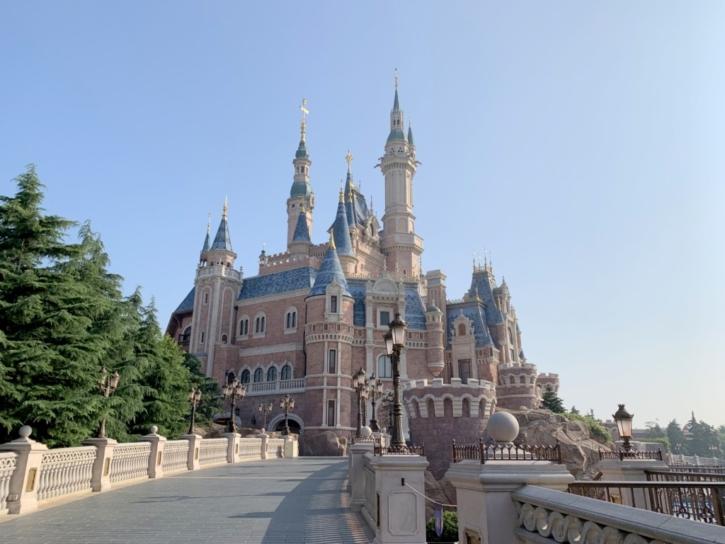 上海ディズニーランド キャッスル 開園前
