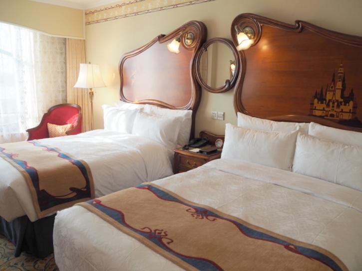 上海ディズニーランドホテル ベッド