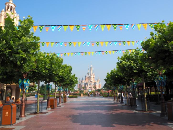 上海ディズニーランド キャッスル 遠景