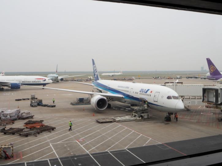 上海 ANA 飛行機