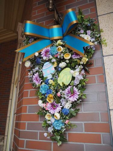 東京ディズニーランドホテル_イースターデコレーション_エントランスブルー