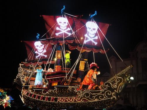 エレクトリカルパレード・ドリームライツ_ピーターパンの海賊船03
